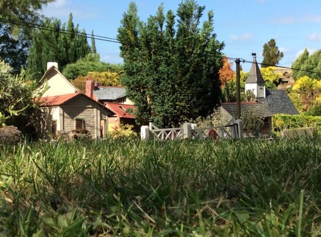 A lovely summer scene of the Lavender Hill hamlet
